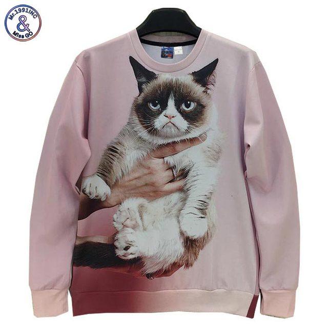Mr.1991INC Animals printed Fashion 3d sweatshirt for men/women funny cat/panda/fox printed 3d hoodies Spring Autumn jacket