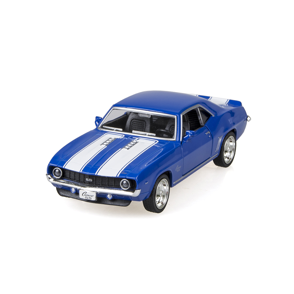 Camaro SS 1969 Blue 1/36 alloy model car Kids Toys Cars Diecast Metal Pull Back Car Toy For Gift Collection