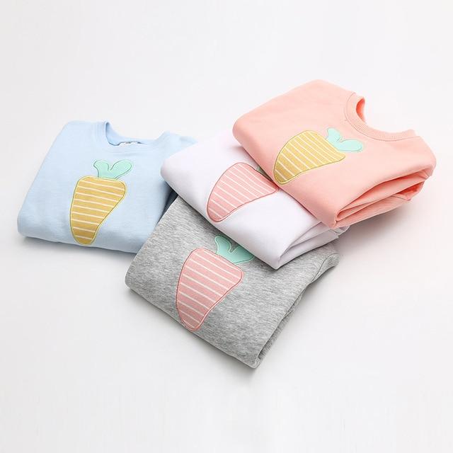 Spring 2017 cartoon Baby Sweater Girl children children roundneck shirt sleeved jacket wt-7419