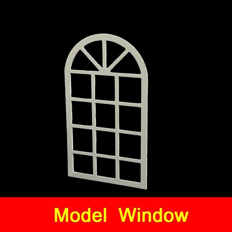 10pcs Building Model Material Window Doors Diy Hut Hand-assembled House Window Frames