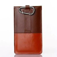 Outdoor Man Belt Clip Leather Case Cell Phone Pouch Climbing Cover For LG K10 K7 K8