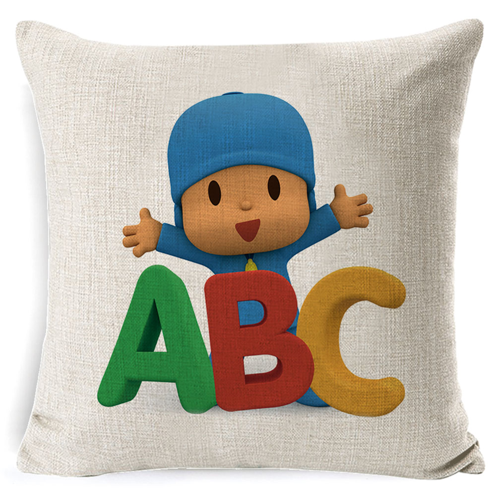 PEIYUAN-Pocoyo-Elly-Pato-Loula-Pocoyo-Dog-Duck-Cushion-Cover-Square-Plain-Multicolor-Pillowcase-Pillowsilp-for (1)