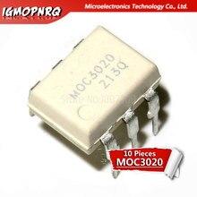 10 sztuk MOC3020 3020 DIP6 Triac i wyjście SCR łączniki optyczne 6Pin 400V Optocoupl Rand Phs Triac Drvr nowy oryginał