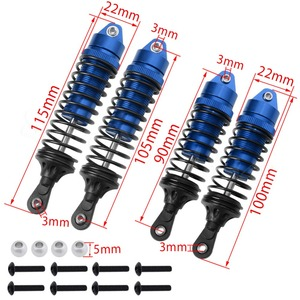 Image 2 - Resortes delanteros y traseros para coche de control remoto, piezas de mejora, 4 Uds., para Traxxas Slash 4x4 2wd, 1/10