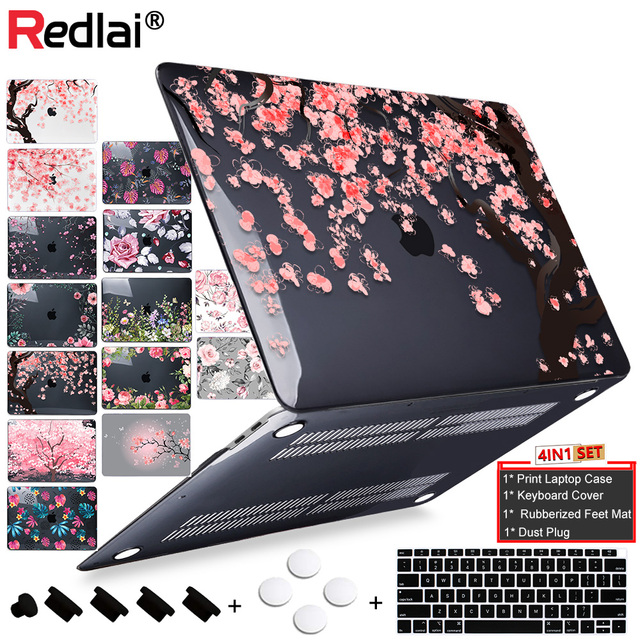Cherry Blossom Print Hard Case For Macbook Air 11 13 A1932 2018 Pro 13 15 Touch bar Laptop bag Pro Retina 12 13 15 Air 13 A1466