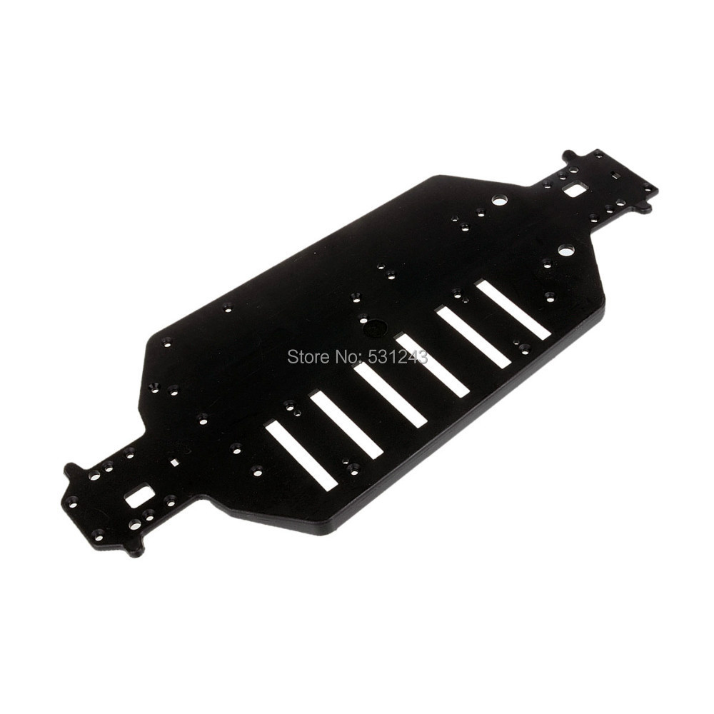 04001 Chassis RC HSP 1:10 94107 94110 94115 94107Pro Off-Road Truggy Truck 1pcs durable off road truck black metal chassis 04001 03601 for hsp 1 10 rc model car upgrade spare parts