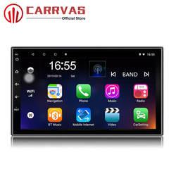 CARRVAS 2 Din Автомобильный мультимедийный плеер Android 8,1 Встроенный RDS 7 дюймов HD сенсорный экран gps навигация Wifi Bluetooth AM FM ISO
