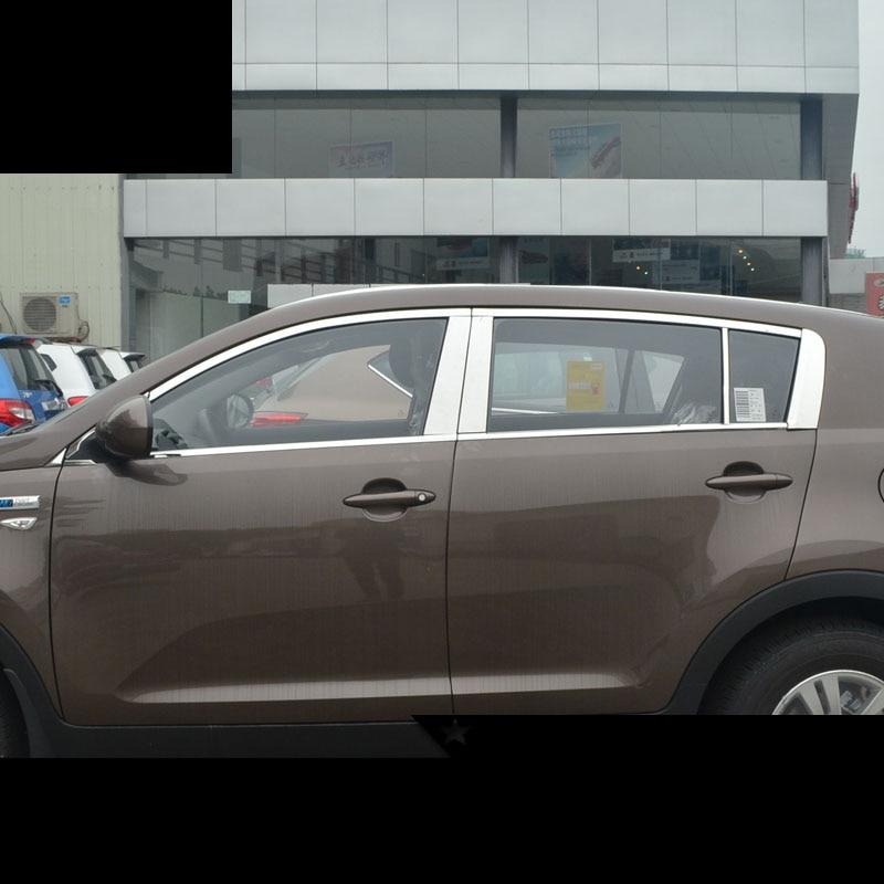 lsrtw2017 304 stainless steel car window trims for kia Sportage 2010 2011 2012 2013 2014 2015 пороги rival bmw style hyundai ix35 2010 2013 2015 kia sportage 2010 2014 2015 круг 173 см крепеж 2 шт