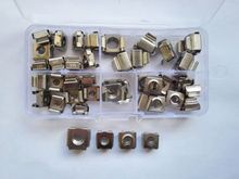 40pcs M4 M5 M6 M8 304 Stainless Steel Cage Cabinet Nut Floating Nuts Assortment