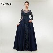YGMJZB Abendkleider 2018 Evening Dress Mermaid Long Sleeves