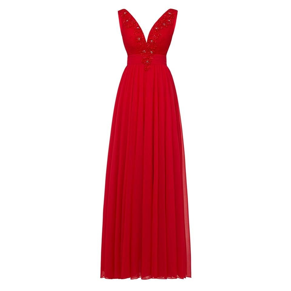 Dressv Royal Blue V Neck Long Evening Dress Sleeveless Cheap Beading Appliques Wedding Party Formal Dress A Line Evening Dresses