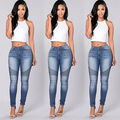 New Sexy Women Denim Skinny Pants High Waist Stretch Jeans Slim Pencil Trousers Wholesale Worldwide