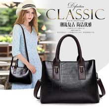 YILIAN Fashionable woman handbag 2019The new Joining together layers Three The large capacity Pure color Inclined shoulder bag