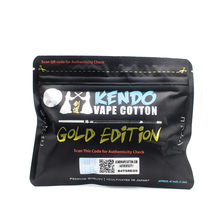 Electronic Cigarette Kendo Vape Cotton 100% Japanese Heat Wire Organic Cotton for DIY RDA RBA Atomizer Coil Wick(China)