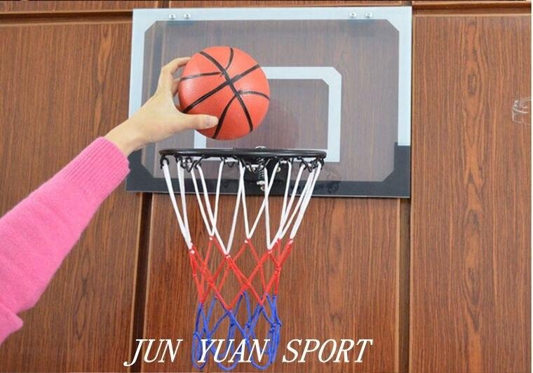 Haute qualité! Mini anneau Transparent de cerceau de jeu de filet de Basket Ball avec le panier de boule cadeau de jouet d'intérieur d'amusement - 3