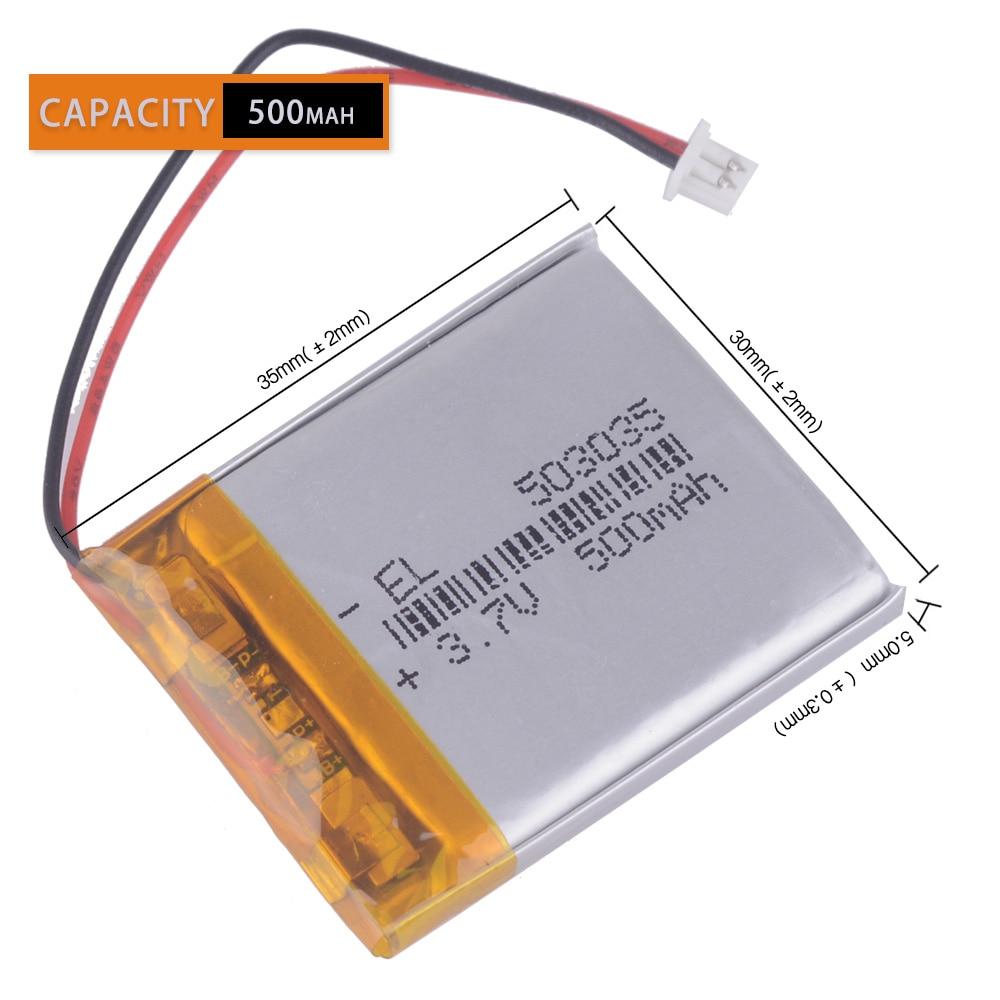 503035 3.7v bateria litowo-polimerowa 3 7V volt li-ion lipo akumulatory do nawigacji GPS dvr
