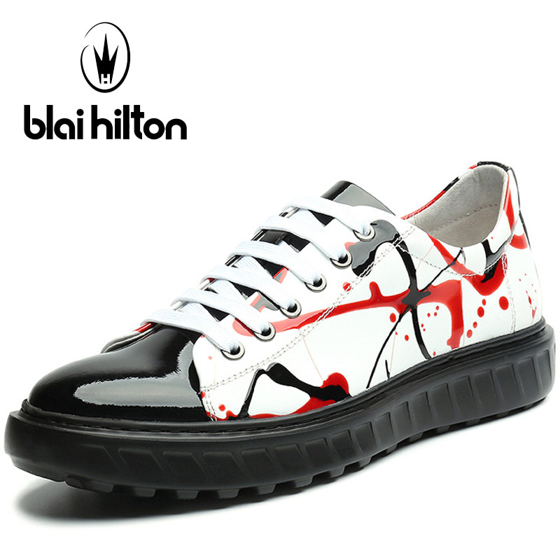 Blaibilton Genuine Leather Skateboard Shoes For Men Breathable Men's Sneakers 2017 Light Weight Lace Up Sport Shoes Man Brand peak sport speed eagle v men basketball shoes cushion 3 revolve tech sneakers breathable damping wear athletic boots eur 40 50