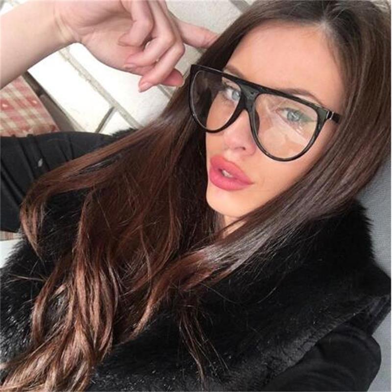 2020 Square Sunglasses Woman Vintage Retro Flat Top Thin Shadow Sun Glasses Square Pilot Luxury Designer Large Black ShadesGafas  - buy with discount