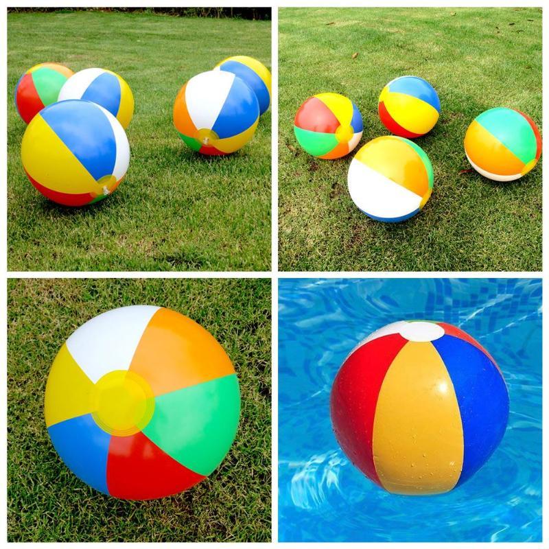 1 Stück Pvc Aufblasbare Strand Ball Mehrfarbige Kinder Bad Spielzeug Ball Kid Sommer Strand Dusche Schwimmen Spielzeug Werkzeuge Zubehör äRger LöSchen Und Durst LöSchen