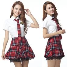 Корейская японская версия женский костюм JK аниме маскарадные костюмы студенческие девушки школьная форма юбка клетчатая кружевная темно-синяя Матросская одежда