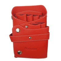 Leather Barber Scissor Bag Salon Hairdressing Holster Pouch Case with Waist Shoulder Belt