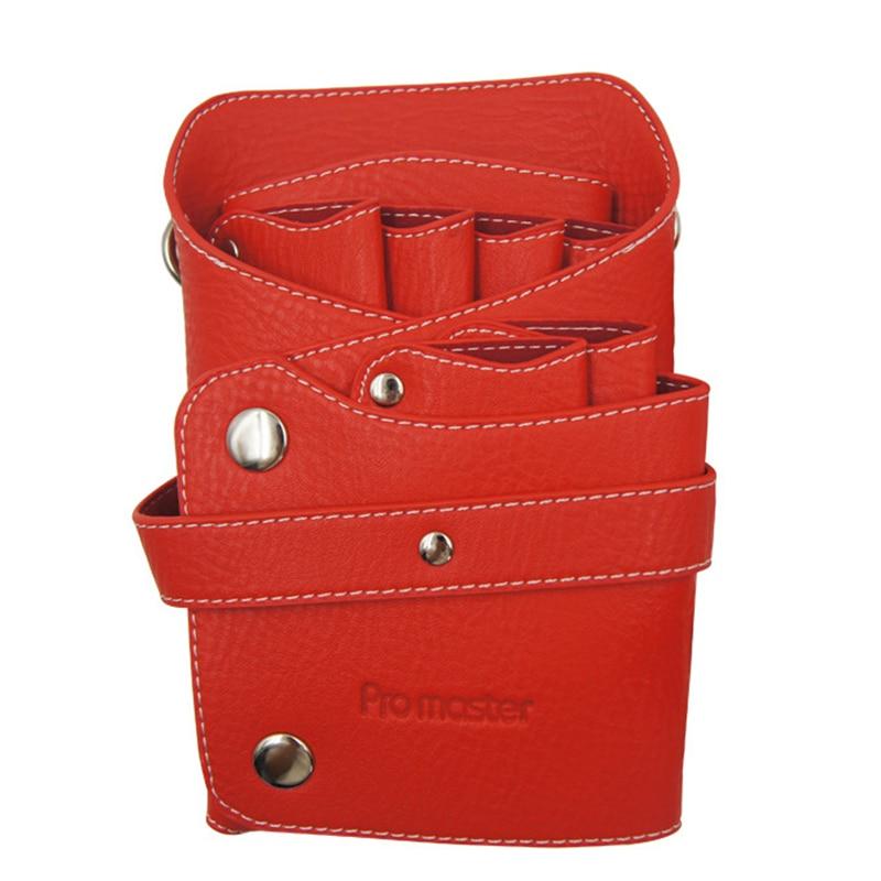 Leather Barber Scissor Bag Salon Hairdressing Holster Pouch Case with Waist Shoulder Belt