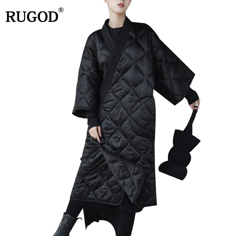 Rugod 2018 새로운 겨울 코트 새로운 기질 패션 망토 느슨한 파카 여성 두꺼운 코트 따뜻한 자켓 여성 오버 코트 파커 befree-에서파카부터 여성 의류 의  그룹 1