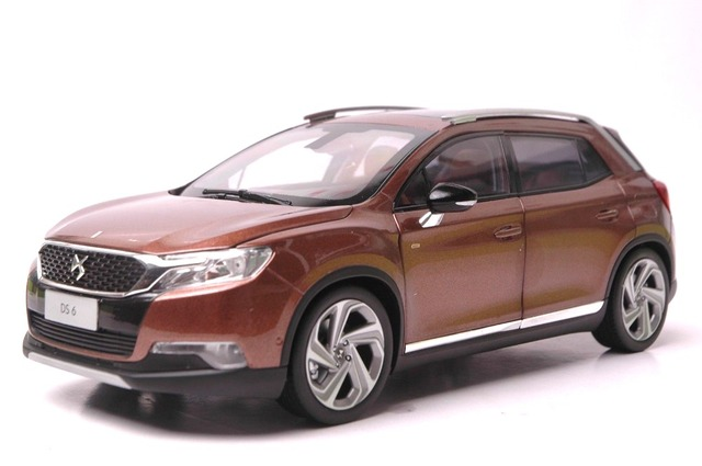 Topnotch 1:18 Diecast Model for Citroen DS 6 Brown SUV Alloy Toy Car BF24