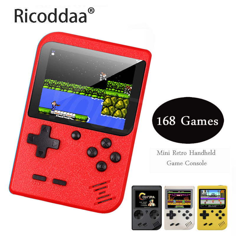 Video Games Console 8 Bit Retro Mini Pocket Handheld Game Player Built-in 168 Classic Games Best Gift For Child Nostalgic Player