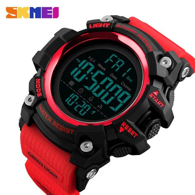 d71a846d7fd1 SKMEI 1384 hombres moda deporte Digital relojes impermeable 2 tiempo cuenta  atrás alarma luz 12