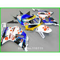 Motobike  fit for SUZUKI GSXR 600 GSXR 750 K1 K2 2001 2002 2003 white blue DARK DOG fairings gsxr600 gsxr750 01 02 03 fairing ki