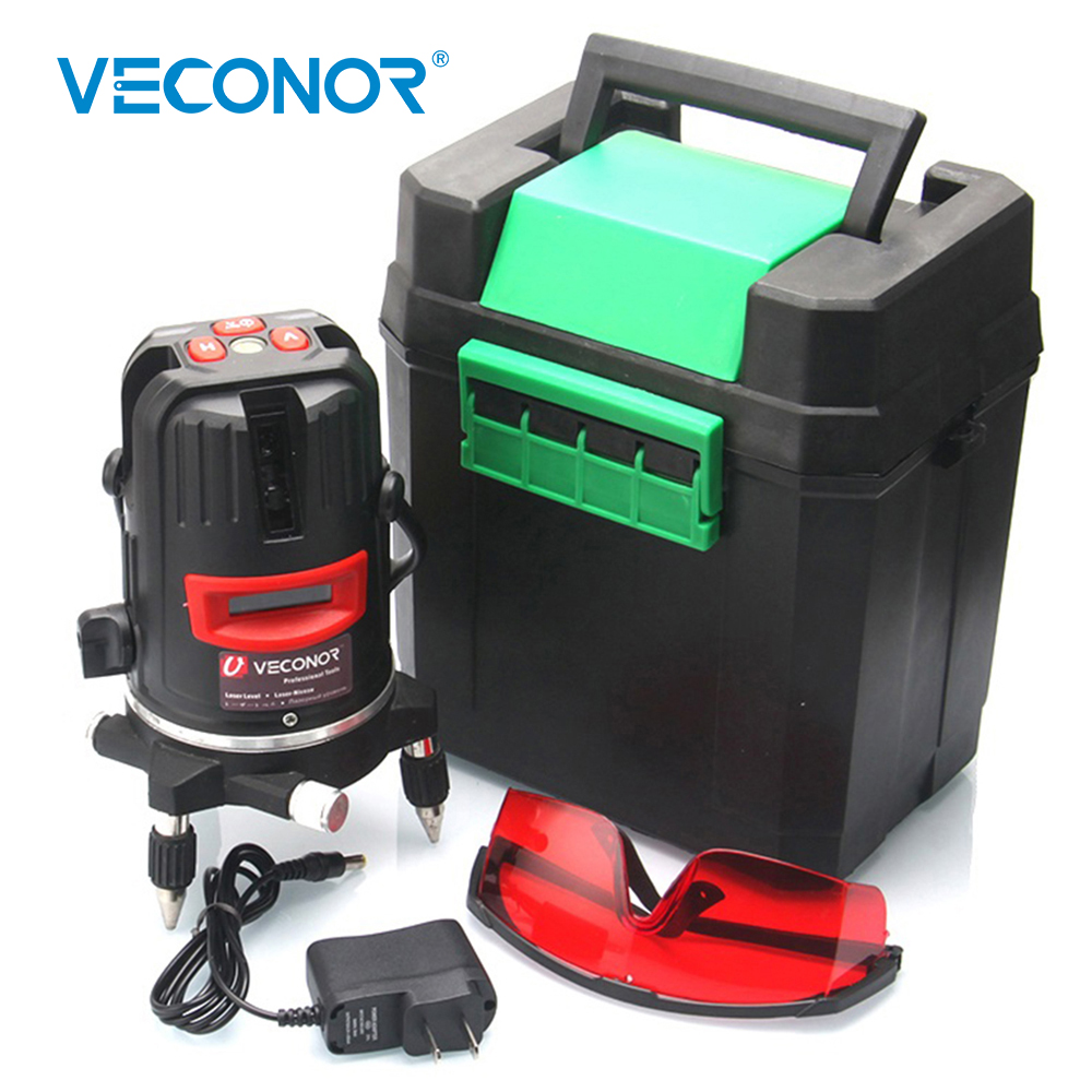 Laser Level 2 Lines 2 Points Optical Instruments Vertical Horizontal Self-leveling Red Laser Line Measuring Tool With Tripod