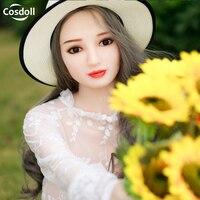 Cosdoll 165 см реальный азиатских милые женские силиконовые Секс-куклы с металлическим каркасом реалистичные 3D Вагина анальный оральный секс дл...