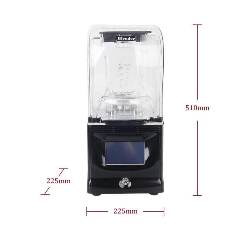 BPA Livre 1.5L Misturador Multifunction Liquidificador Comercial Liquidificador Processador de Alimentos Juicer Smoothie Reduzir O Ruído de Controle Inteligente