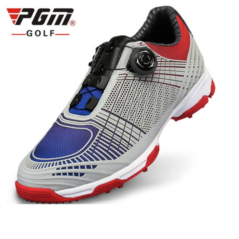 2018 прямые продажи Pgm обувь для гольфа мужская пряжка с двойной лакированной кроссовки Нескользящая спортивная обувь zx070