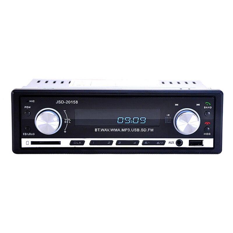 Nueva 1 DIN 12 V Radio de Coche reproductor de MP3 de Audio Estéreo Construido
