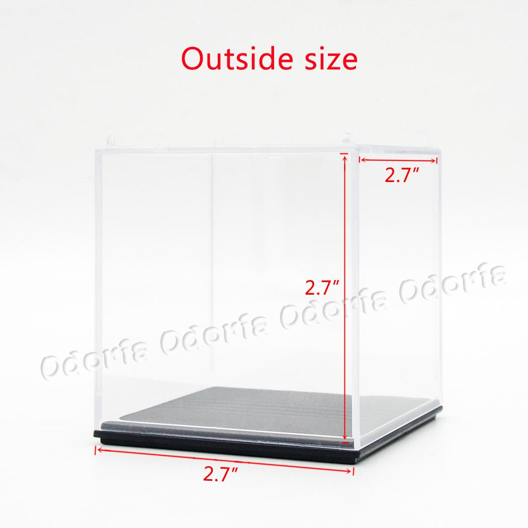 odoria acrylic display case box cube 7x7x7 cm perspex dustproof showcase for golf tennis. Black Bedroom Furniture Sets. Home Design Ideas