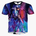 New Fashion men's 3d T-shirt print King of Rock Roll Michael Jackson and Marilyn Monroe 3d t shirt for men/Boy Tshirt