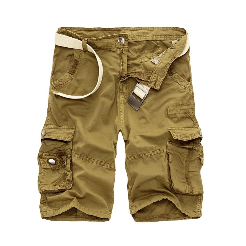 Militär Last Shorts Män Sommar Camouflage Ren Cotton Brand Kläder - Herrkläder - Foto 4
