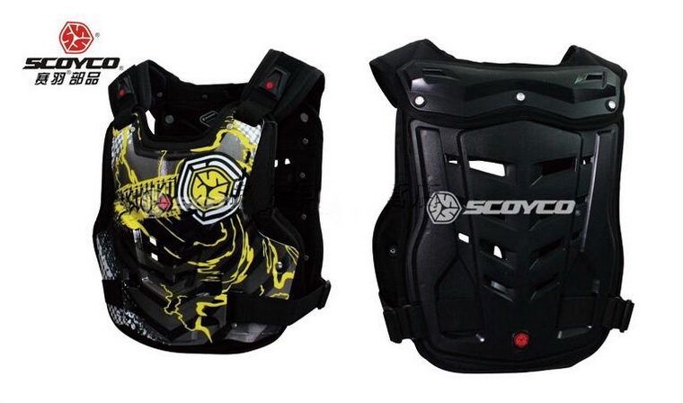 SCOYCO motocross motorcycle armor motorbike armors Chest Back support Riding protective device of PP sponge AM06 size M L XL scoyco t117 xl motorcycle racing protection t shirt size xl