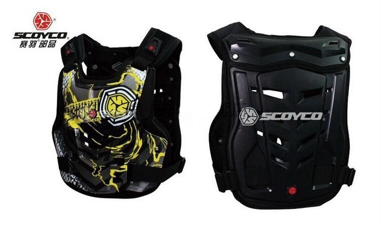 цена на SCOYCO motocross motorcycle armor motorbike armors Chest Back support Riding protective device of PP sponge AM06 size M L XL
