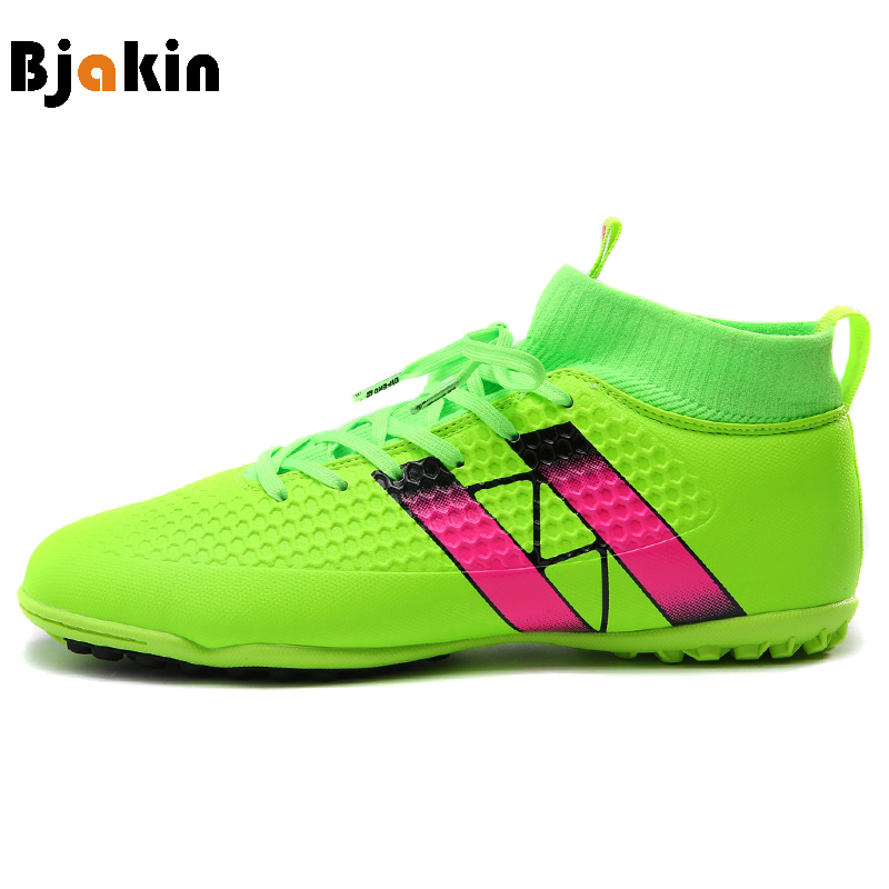 Bjakin Broken Nails Football Boots Man Outdoor Lawn Ankle Socks Men Soccer Shoes Sneakers High Ankle futsal chaussure de foot