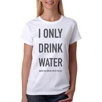 מידות S-XL אופנה חדש חולצה טי אני רק לשתות מים הברנש נשיים Harajuku מותג T כותנה חולצה מקרית חולצה מצחיקה