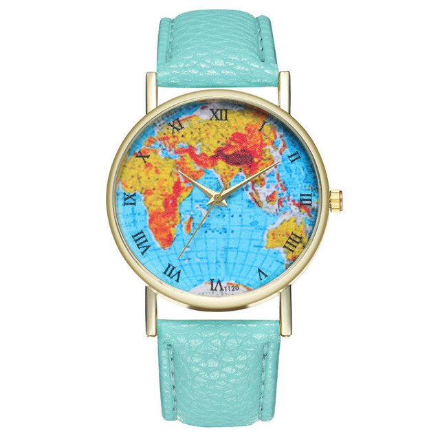 LASPERAL Luxury Brand Watch Women's Bracelet Watch World Map Student Quartz Anal