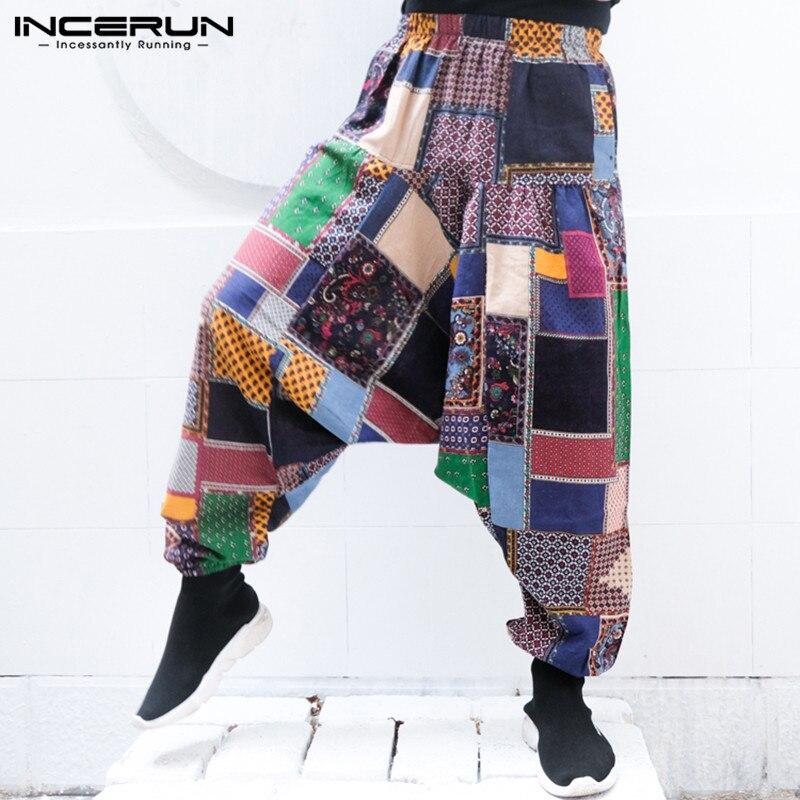 New Harem Pants Men Women Nepal Pants Baggy Low Crotch Trousers Loose Wide Pant Hiphop Elastic Waist Plus Size 5XL Men Clothing