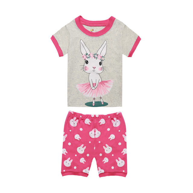972c477bf7 TINOLULING 100 cotton girls summer pajamas cute rabbit sleepwear boys  pajamas robocar poli boys summer pajamas