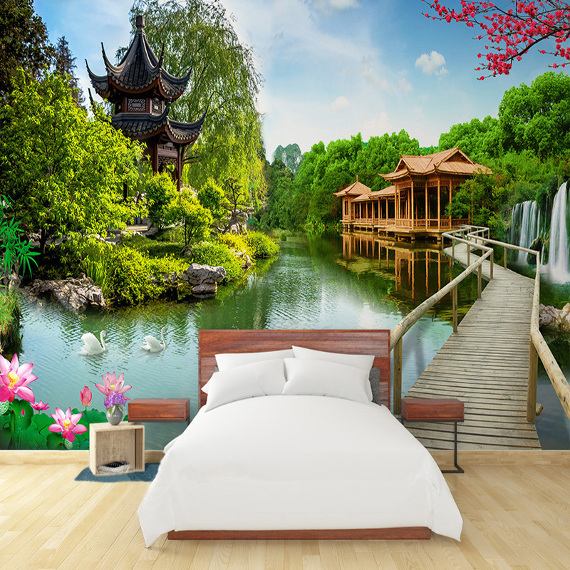 Wallpapers Custom Wallpaper Home Decor Room 3d Photo Mural Window Sunshine Forest 3d Photo Room Sofa Tv Background Wall Non-woven Wallpaper Let Our Commodities Go To The World