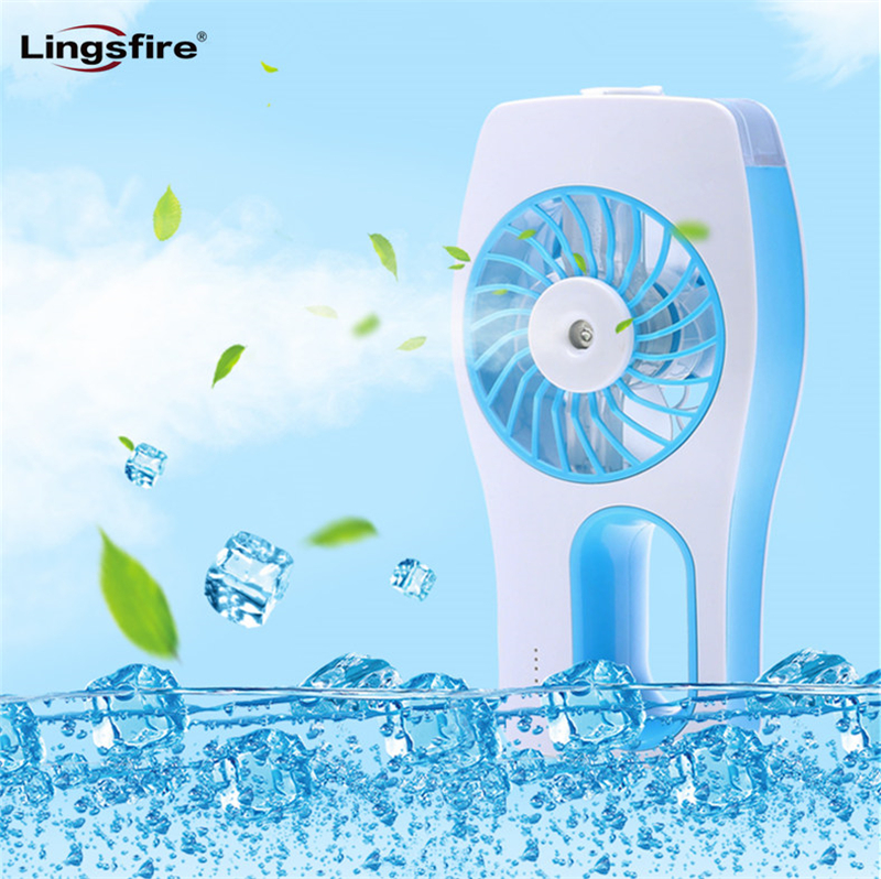 Mini Misting Fan Builtin Rechargeable USB Fan Handheld Personal Cooling Mist Humidifier for Home Office Portable Air Conditioner portable cooling fan with mini usb cute mermaid handheld rechargeable practical for office home school use