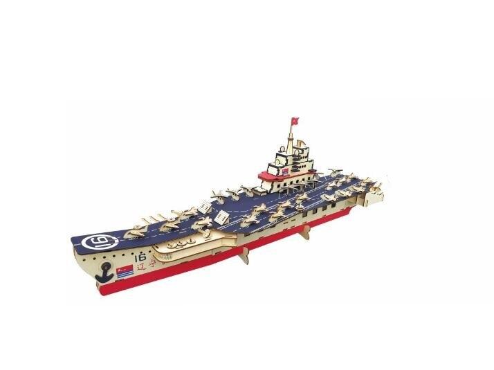 Военный корабль модель детей игрушки 3D головоломки деревянные игрушки деревянные головоломки Развивающие игрушки трехмерные деревянные г...