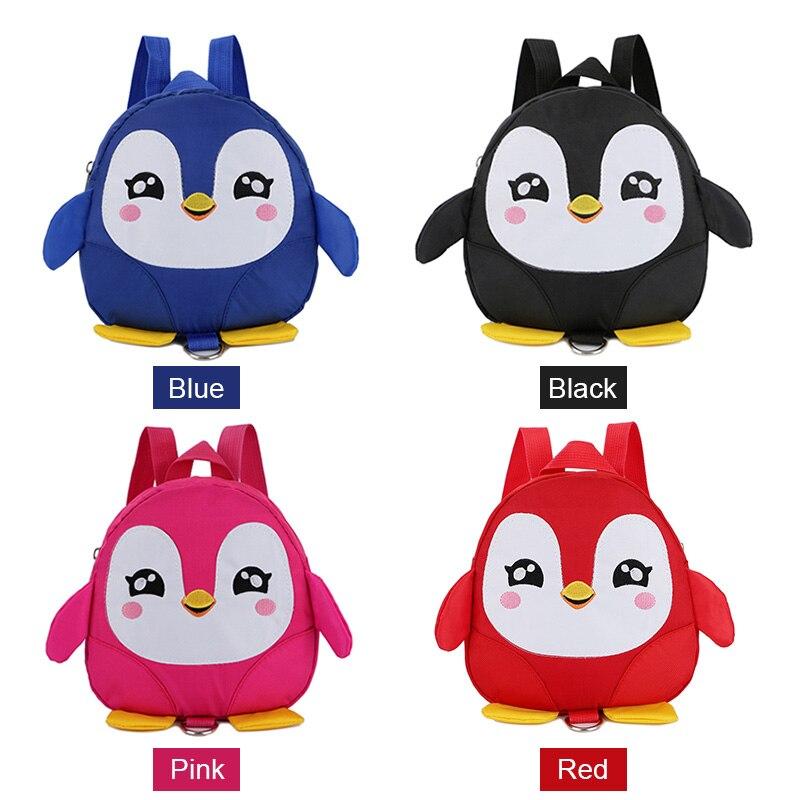 2018 Cute Children Kids Backpack Anti-lost Mini Lovely School Bag Cartoon Penguin Safety Harness Belt Backpack Female Sac A Dos